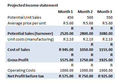 Good Business Financial Plan Income Statement